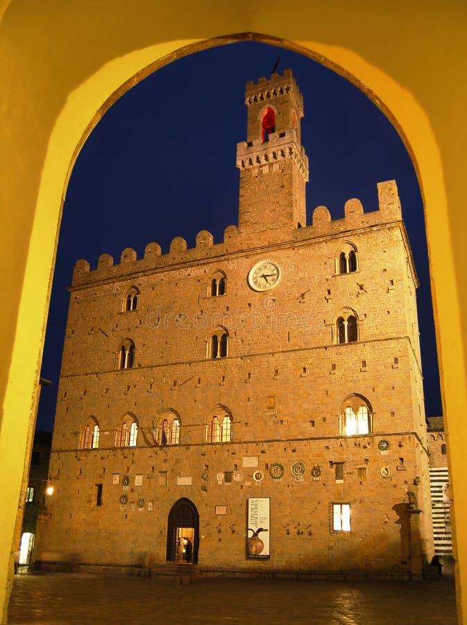 Het paleis van Priori in Volterra, Toscanië royalty-vrije stock afbeelding