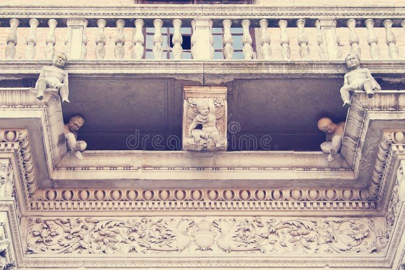 Het Paleis van Prosperisacrati Ferrara, Italië stock foto's