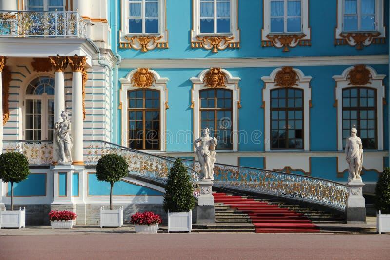 Het Paleis van Pushkin in Rusland detail royalty-vrije stock afbeeldingen