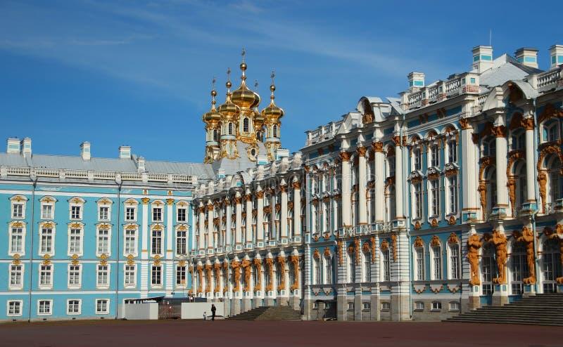 Het Paleis van Pushkin in Rusland detail stock fotografie