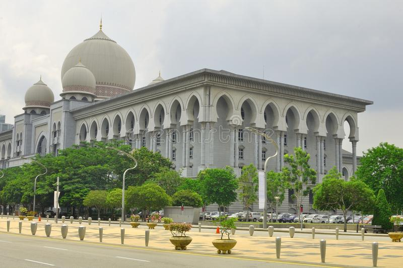 Het paleis van Rechtvaardigheid, Maleisië stock afbeeldingen