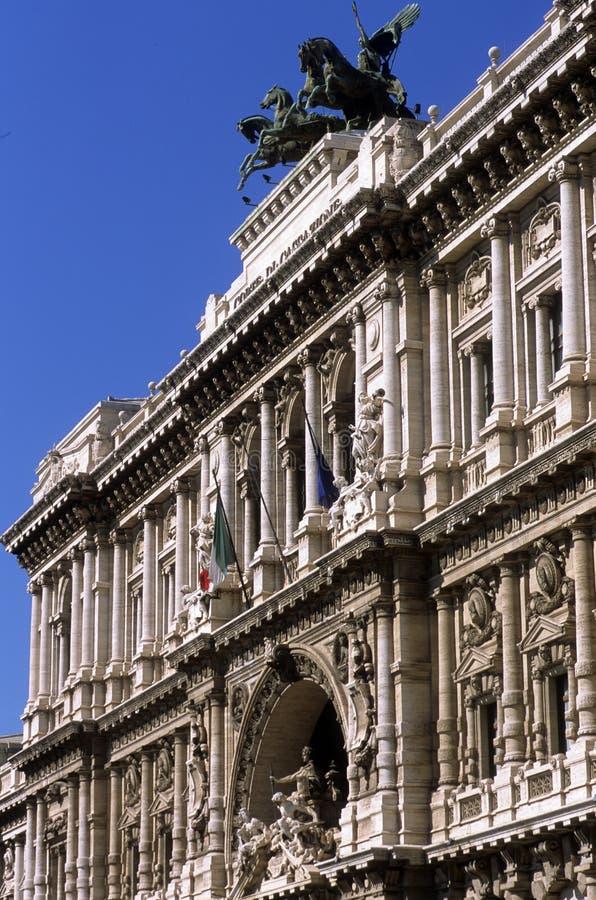 Het paleis van Rechtvaardigheid, Rome stock afbeeldingen