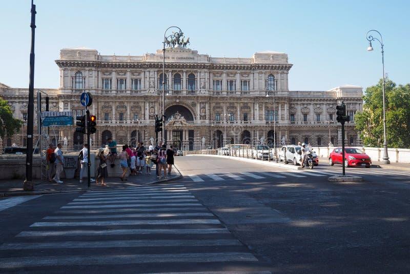 Het paleis van rechtvaardigheid in Rome, Itali? royalty-vrije stock afbeeldingen
