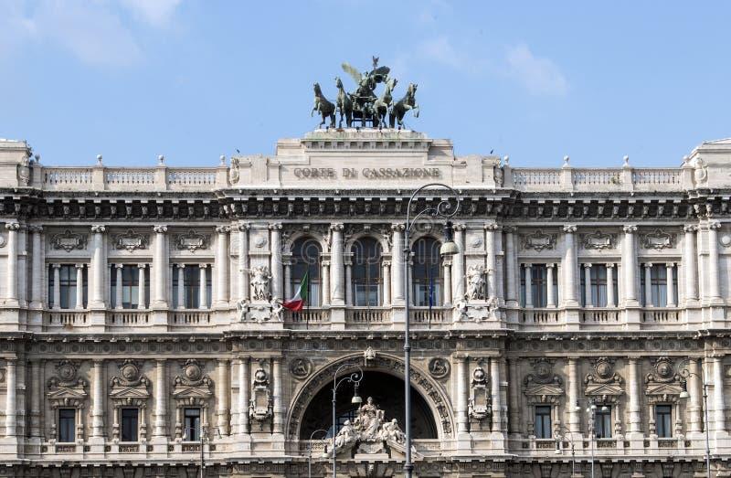 Het Paleis van Rechtvaardigheid, zetel van Corte Suprema Di Cassazione in Rome, Italië royalty-vrije stock afbeeldingen