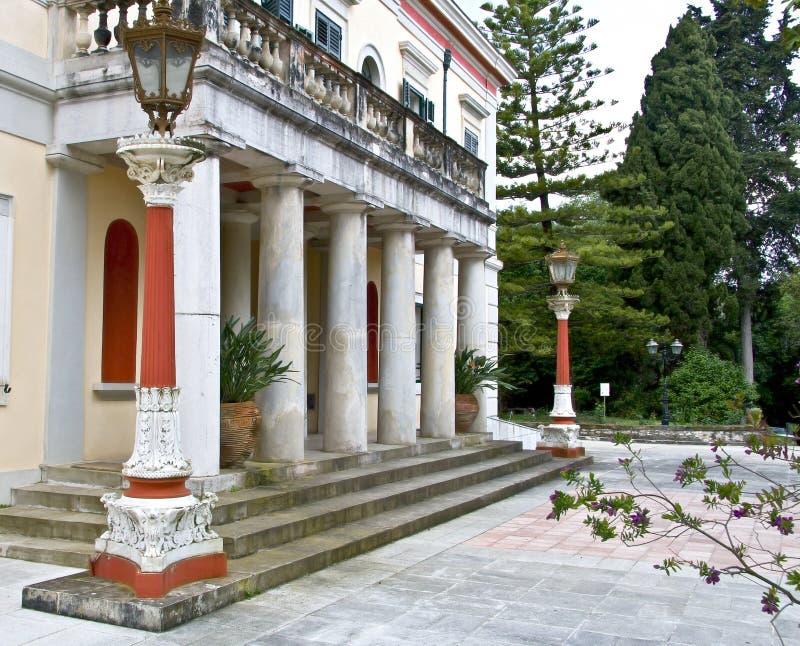 Het paleis van Repo van Mon in Korfu stock afbeelding