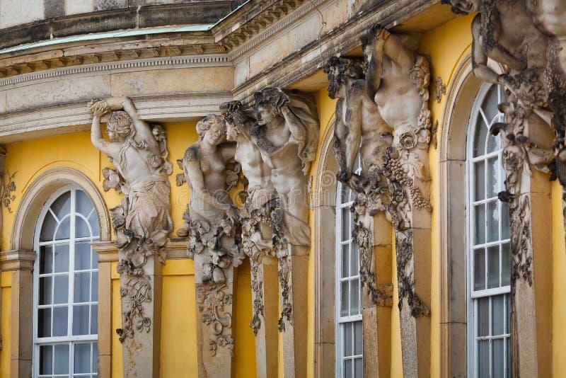 Het Paleis van Sanssouci, Potsdam royalty-vrije stock foto