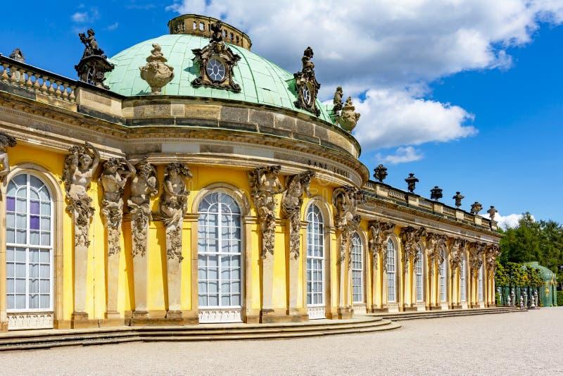 Het paleis van Sanssouci in Potsdam, Duitsland stock foto's