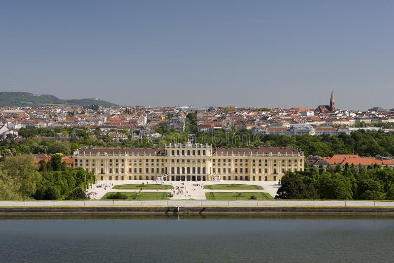 Het Paleis van Schoenbrunn, Wenen stock afbeelding