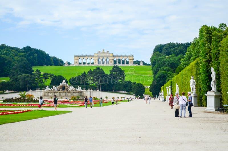 Het Paleis van Schonbrunn, Wenen royalty-vrije stock foto