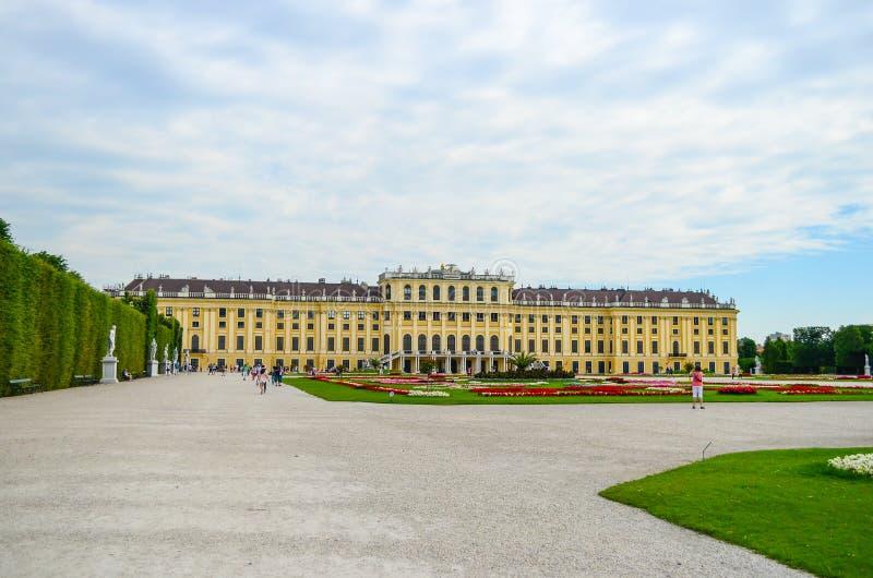 Het Paleis van Schonbrunn, Wenen stock foto's