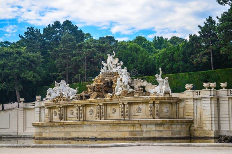 Het Paleis van Schonbrunn, Wenen stock foto
