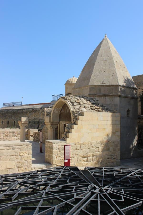 Het Paleis van Shirvanshah, Baku stock foto's