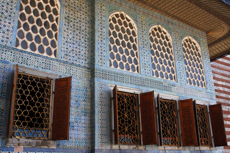 Het paleis van Topkapi in Istanboel stock fotografie