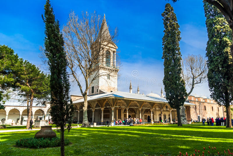 Het Paleis van Topkapi in Istanboel, Turkije royalty-vrije stock fotografie
