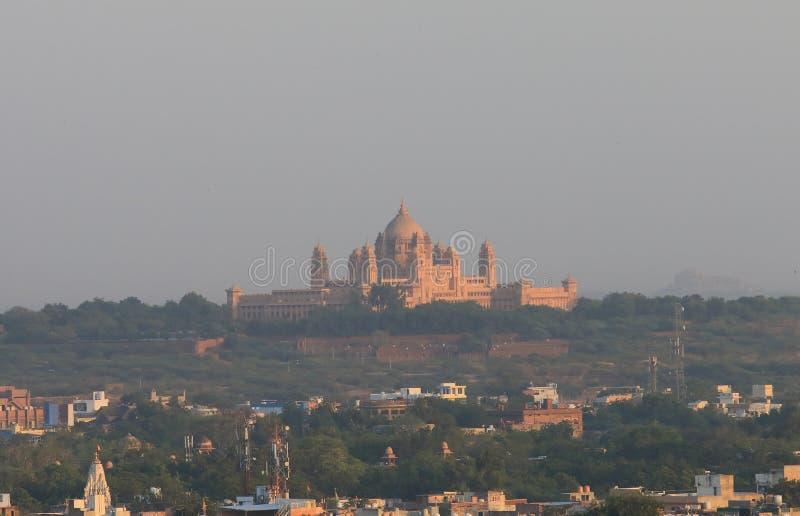 Het Paleis van Umaidbhawan de historische bouw Jodhpur India stock afbeeldingen