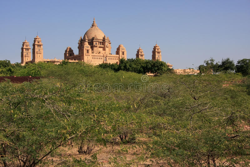 Het Paleis van Umaidbhawan, Jodhpur, India royalty-vrije stock foto's