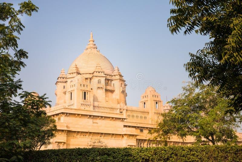 Het Paleis van Umaidbhawan, Jodhpur, India stock foto's