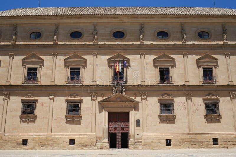 Het paleis van Vazquez DE Molina in de stad van Ubeda Andalusia stock foto