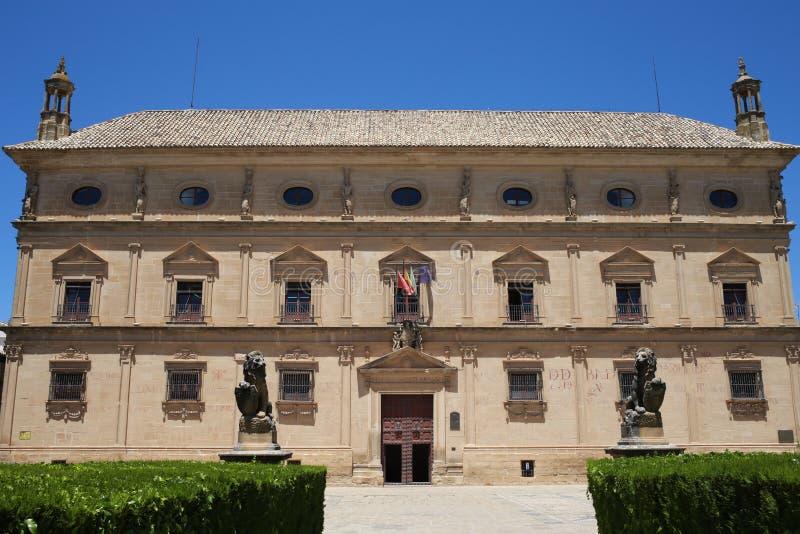 Het paleis van Vazquez DE Molina in de stad van Ubeda Andalusia stock foto's
