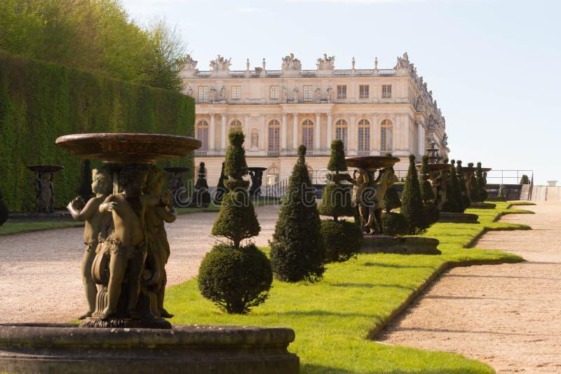Het Paleis van Versailles, Frankrijk stock foto's