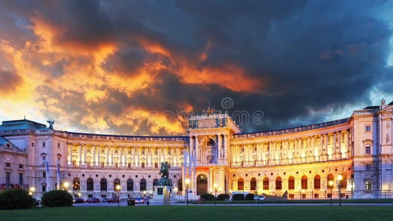 Het paleis van Wenen Hofburg stock afbeeldingen