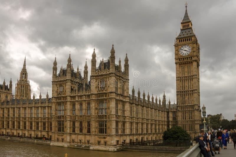 Het paleis van Westminster Londen, Engeland, het UK stock foto