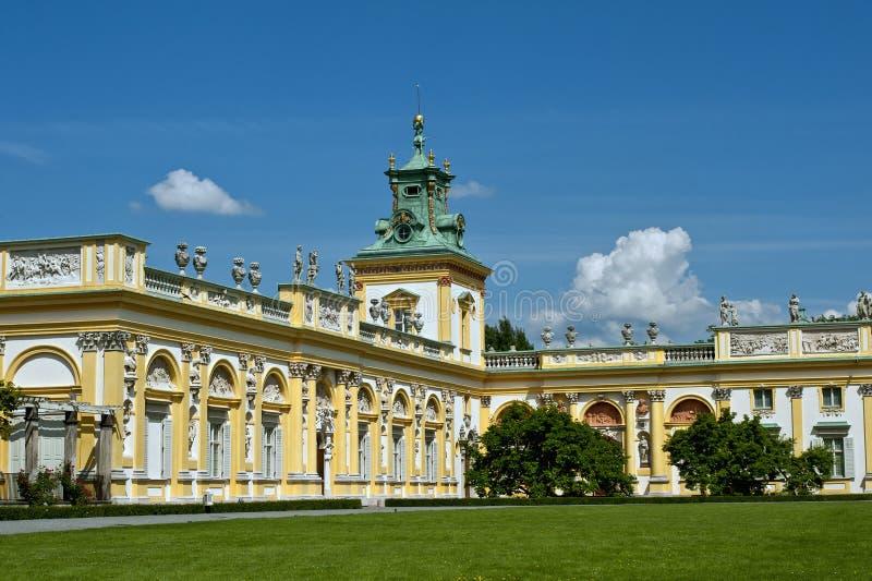 Het paleis van Wilanow stock afbeelding