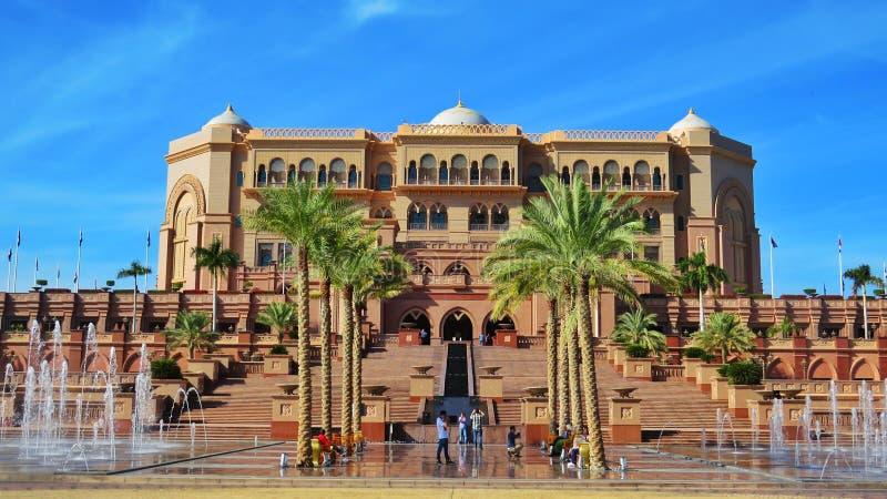 Het Paleishotel van emiraten in Abu Dhabi royalty-vrije stock fotografie