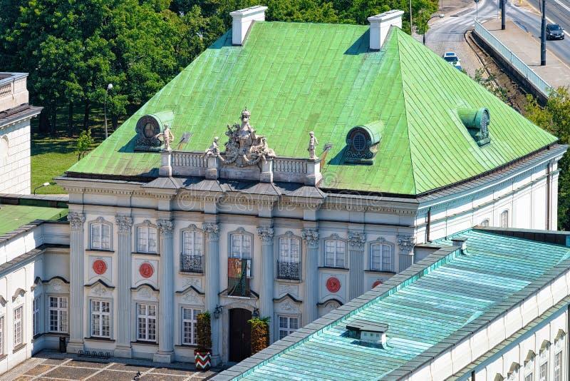 Het Paleismuseum van het koperdak bij Koninklijk Kasteel in de Oude stad van Warshau, in Polen stock afbeeldingen