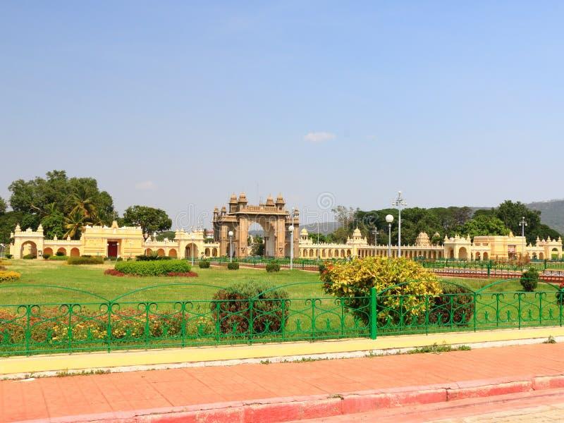 Het Paleispoort van Mysore stock afbeelding