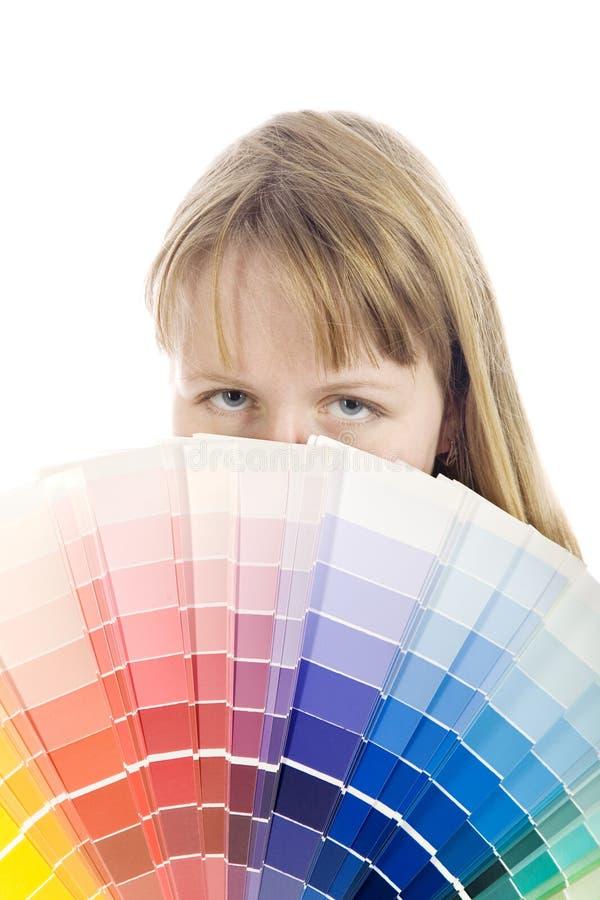 Het palet van de kleur stock afbeelding