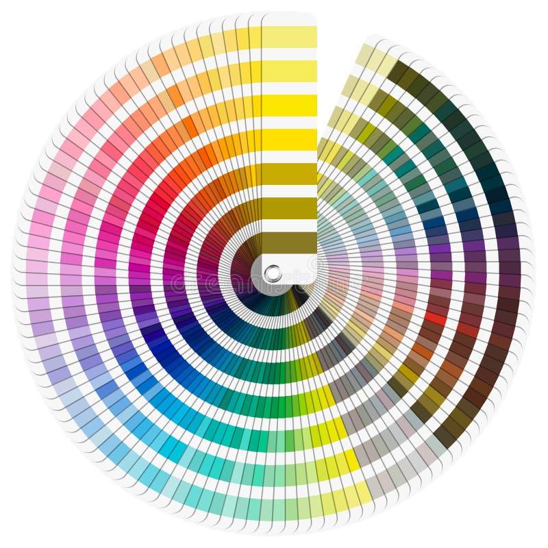 Het Palet van de Kleur van Pantone stock illustratie