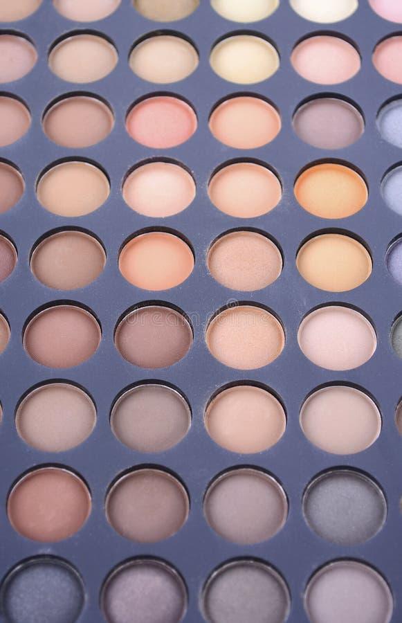 Het palet van de make-upoogschaduw royalty-vrije stock afbeeldingen
