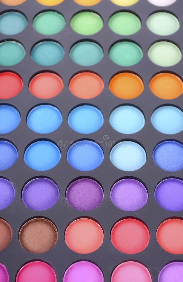 Het palet van de make-upoogschaduw stock foto