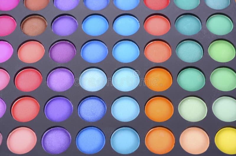 Het palet van de make-upoogschaduw stock afbeeldingen