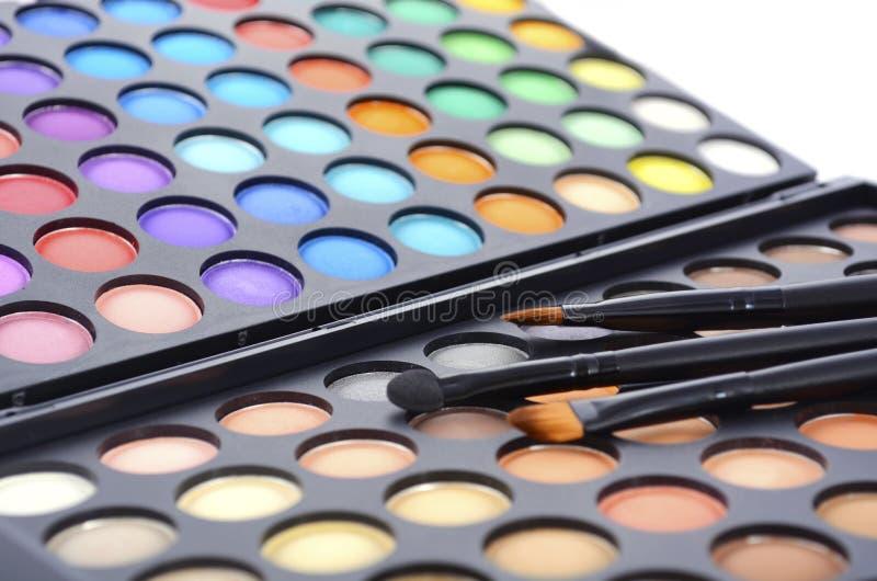 Het palet van de make-upoogschaduw stock fotografie