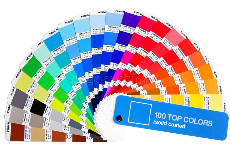 Het palet van de Pantonekleur royalty-vrije stock afbeelding
