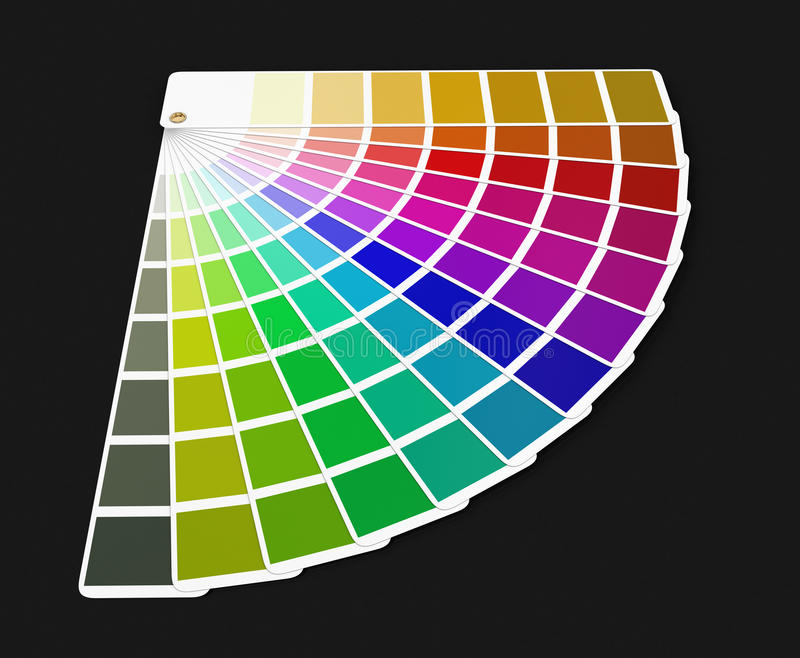 Het paletgids van de Pantonekleur (het knippen inbegrepen weg) royalty-vrije illustratie