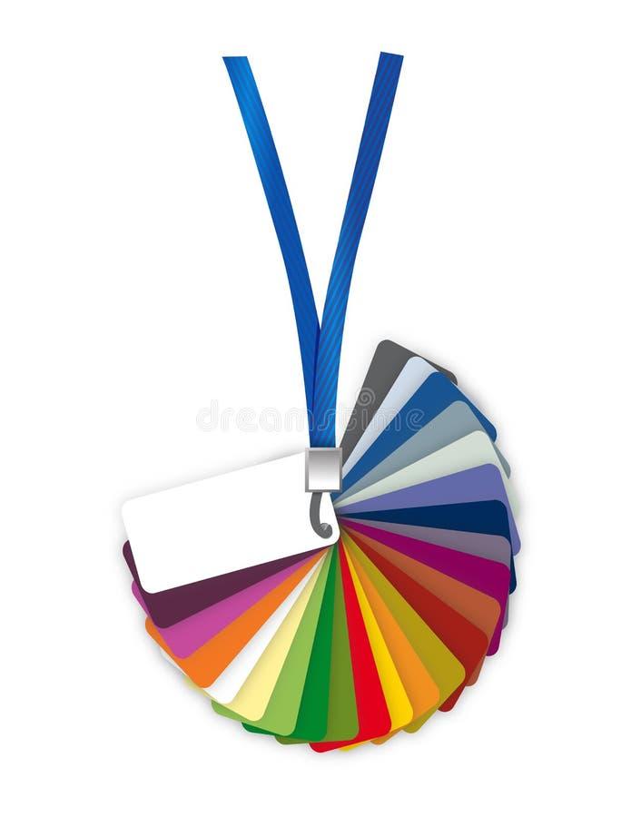 Het paletgids van de Pantonekleur. illustratie vector illustratie