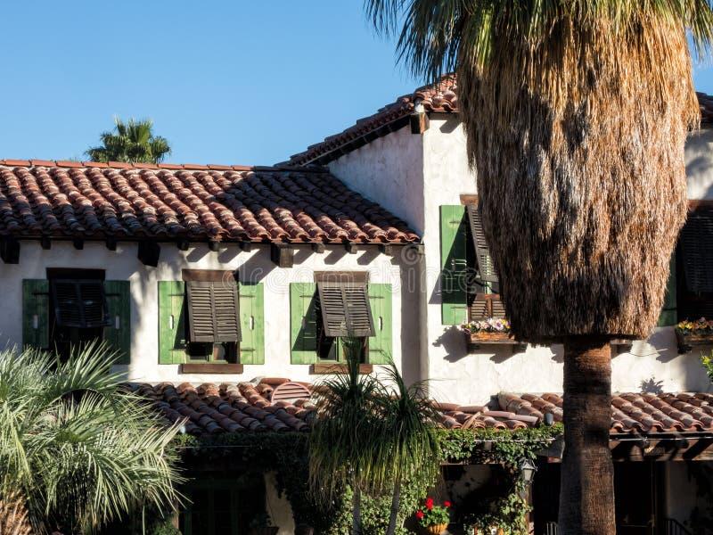 Het Palm Springsrestaurant van de binnenstad stock fotografie