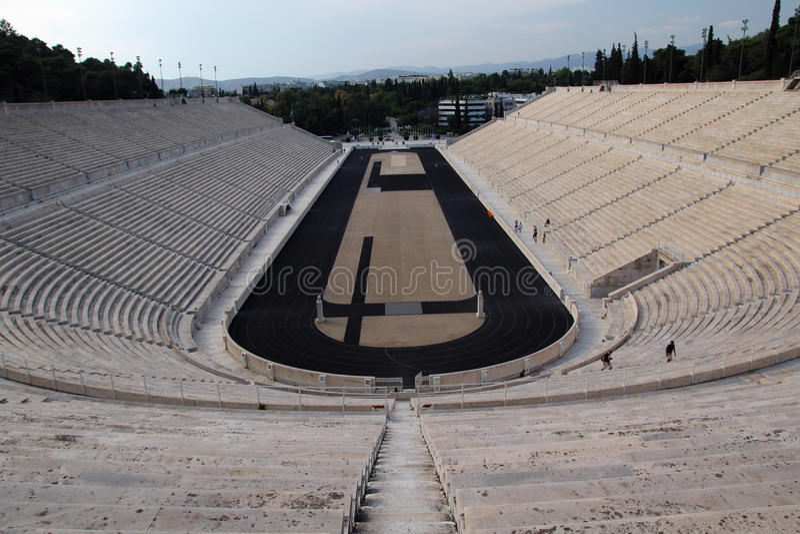 Het Panathenaic-Stadion, Athene, Griekenland stock afbeelding