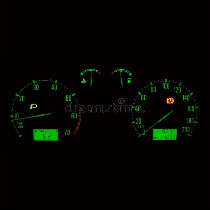 Het paneel van de auto stock illustratie
