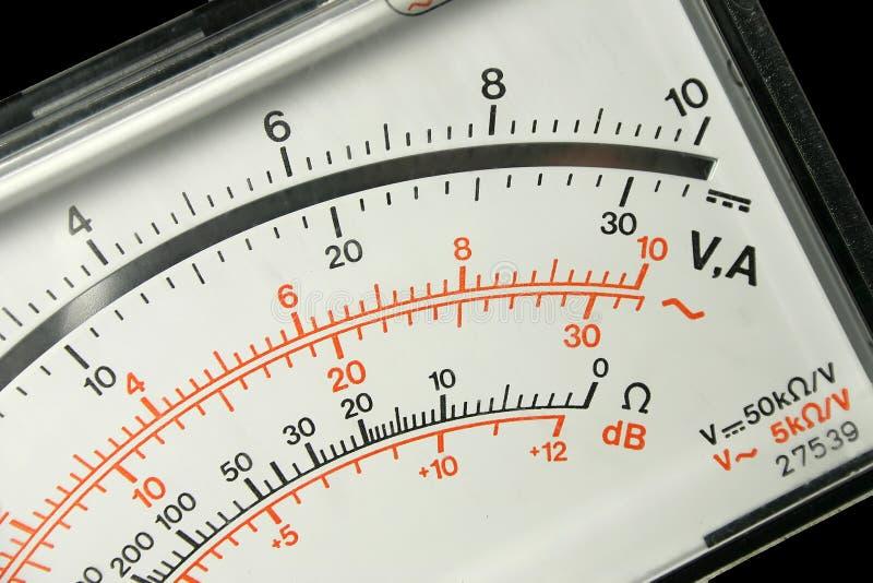 Het paneel van de voltmeter stock afbeelding