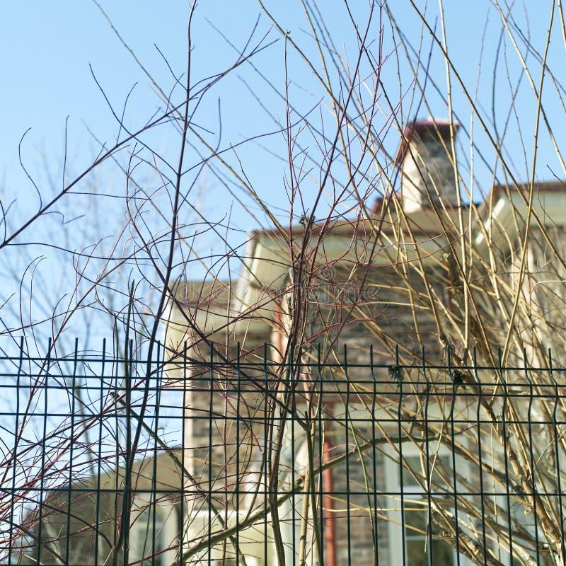 Het paneel van het draadnetwerk voor een modern huis royalty-vrije stock foto