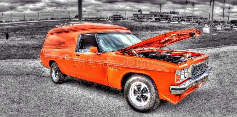 het paneelbestelwagen van jaren '70 Australische Holden royalty-vrije stock afbeelding