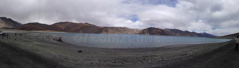 Het Pangong-Meer stock afbeelding