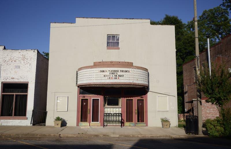 Het Panola-Theatergebouw, Sardis de Mississippi royalty-vrije stock fotografie