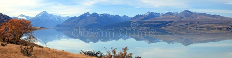 Het Panorama Nieuw Zeeland van Cook van de berg royalty-vrije stock afbeeldingen