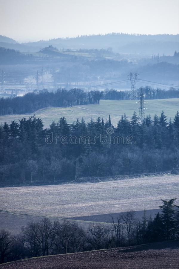Het panorama u kan van een heuvel zien royalty-vrije stock afbeeldingen