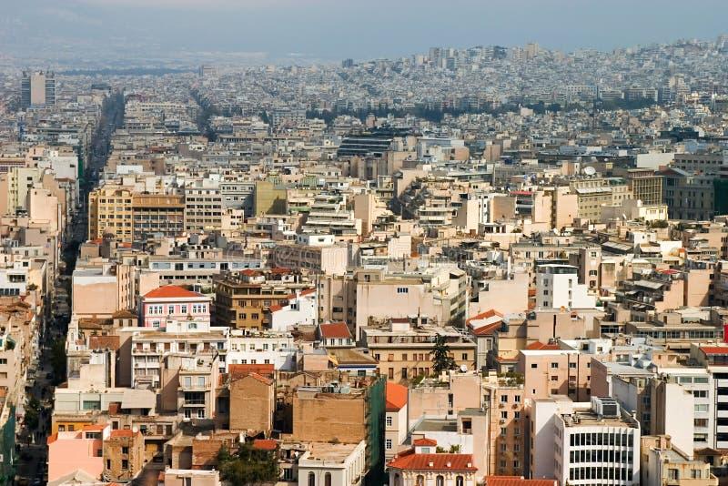 Het Panorama van Athene royalty-vrije stock afbeelding